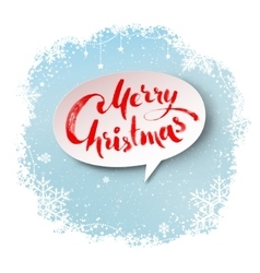 Merry christmas banner on snowflakes background vector