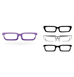 Set of modern glasses isolated on white background vector