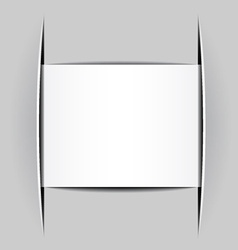 Blank white attached paper vector