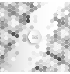 Geometric background abstract hexagonal pattern vector