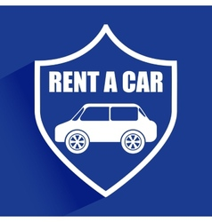 Rent a car vector