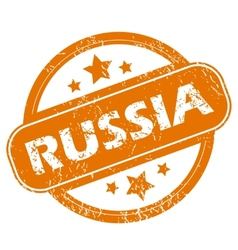 Russia grunge icon vector