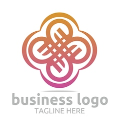 Abstract logo bussines infinity company corporate vector