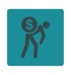 Money courier icon vector