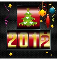 christmas 2012 vector image