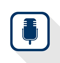 Microphone music flat icon vector