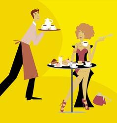 Cafe scene vector