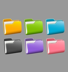 Icons folders set vector