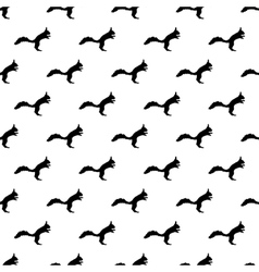Squirrel pattern seamless vector