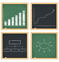 Graphs and diagrams on blackboards vector