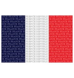 The french republic text flag vector