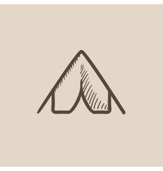Tent sketch icon vector