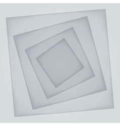 Abstract light grey rectangle paper shapes vector