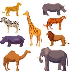 Africa animal decorative set vector image vector image