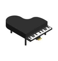 Black grand piano icon isometric 3d style vector image vector image