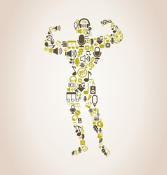 Bodybuilding music vector image vector image