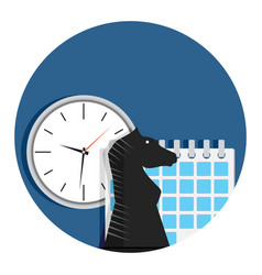 Business and strategy time vector