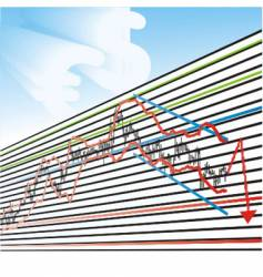 business loss graphs vector image vector image