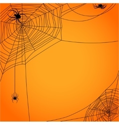 Cobweb with spiders vector image vector image