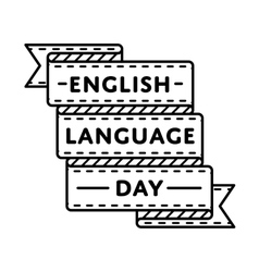 English language day greeting emblem vector
