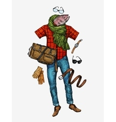 Fashion men s clothing vector