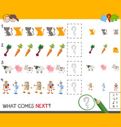 Finish the pattern game for kids vector