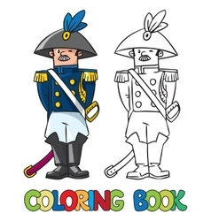 General or officer coloring book vector