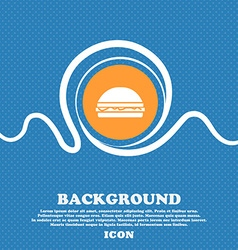 Hamburger icon sign blue and white abstract vector