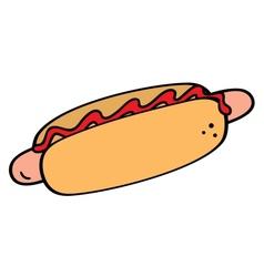Hotdog symbol vector