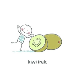 Kiwi fruit and a man vector image vector image
