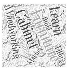 Learn how to build custom furniture word cloud vector