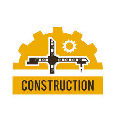 logo construction crane special machinery and vector image vector image