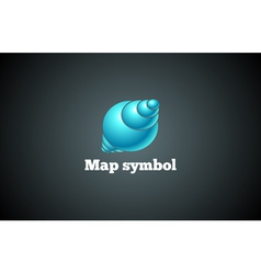 Map design symbol vector image vector image