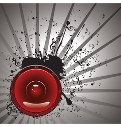 Music Poster with Audio Speaker3 vector image