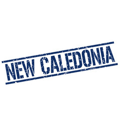New caledonia blue square stamp vector