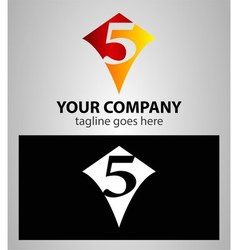 Number five 5 logo icon design template elements vector