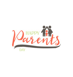 Parents day badge design sticker stamp logo - vector
