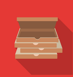 pizza boxes icon in flat style isolated on white vector image