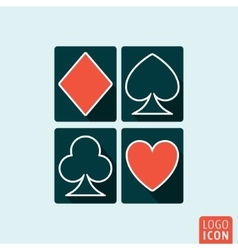 Playing cards icon isolated vector image vector image