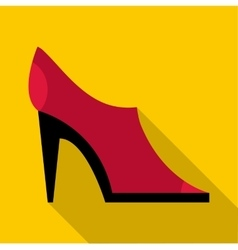 Red shoe icon flat style vector