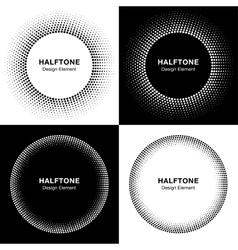 Set of abstract halftone circles vector