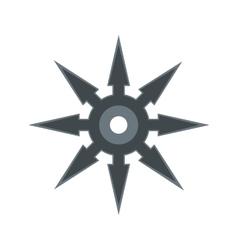 Shuriken flat icon vector