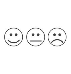 smiley emoticons icon vector image