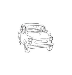 Soviet old-timer car vector image vector image