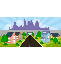 Suburban houses vector image vector image