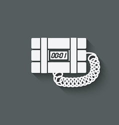 terrorist bomb symbol vector image