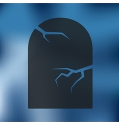Tombstone icon on blurred background vector