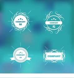 Trendy retro vintage badges logo set vector image