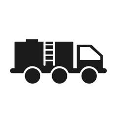 Truck tank oil industry icon vector
