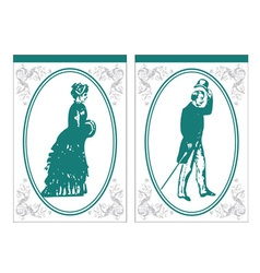 vintage bathroom signs vector image
